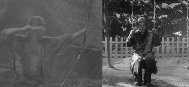 Takashi Shimura in Seven Samurai and Ikiru